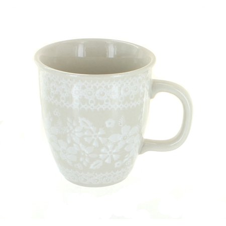 Polish Pottery White Lace Coffee Mug (Manufaktura Polish Pottery)