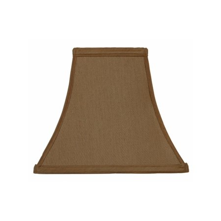 Bronze Silk 10 Inch Flared Square Candlestick Lampshade Replacement