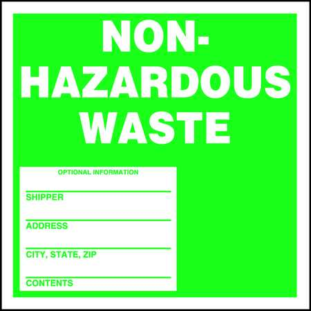 Hazardous Waste Label,6 In. H,PK25 ACCUFORM MHZW11PSP