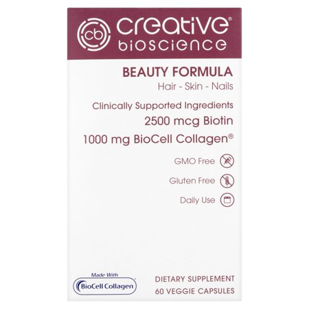 Creative Bioscience Beauty Formula Veggie Capsules  60 Count
