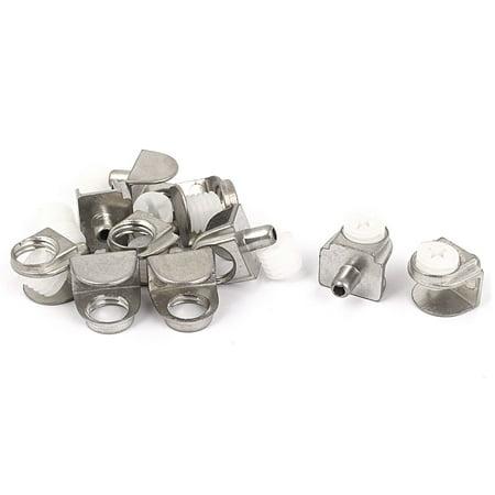 Shelf Clip Brackets (Adjustable 3mm-8mm Thick Half Round Glass Shelf Bracket Clamps Clip Holder 10pcs)