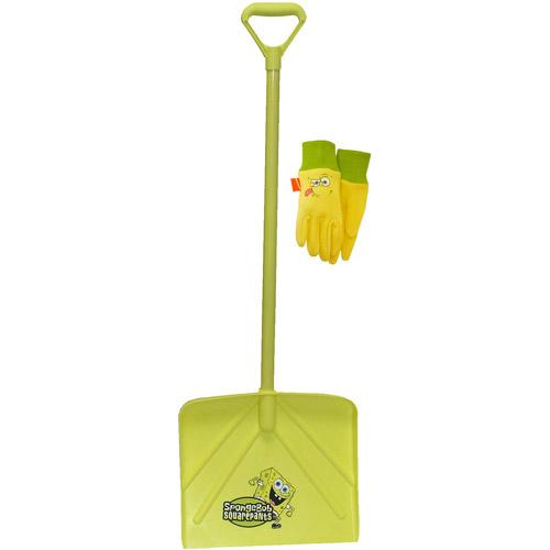 Kids Nickelodeon SpongeBob Snow Shovel, Includes Kids Jersey Gloves