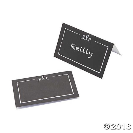 Chalkboard Style Table Place Cards