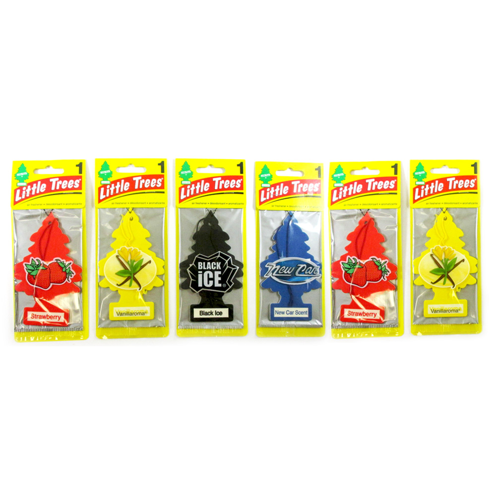 6Pc Little Trees Air Freshener Home Car Scent Assorted Pack Hanging Office Smell