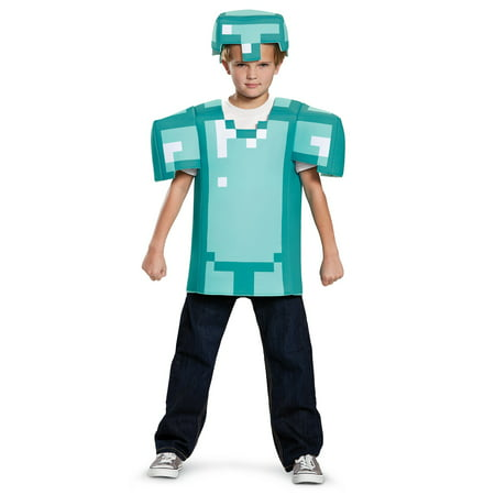 Mine Craft Halloween Costumes (Minecraft Armor Classic Child)