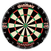 Winmau Diamond Plus Bristle Dartboard with Staple-Free Bullseye and Self-Healing Sisal Fibers