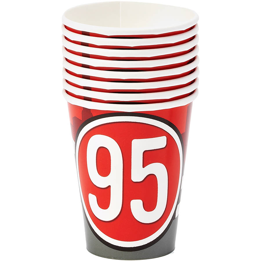 Cars 9 oz. Paper Party Cups, 8 Count, Party Supplies