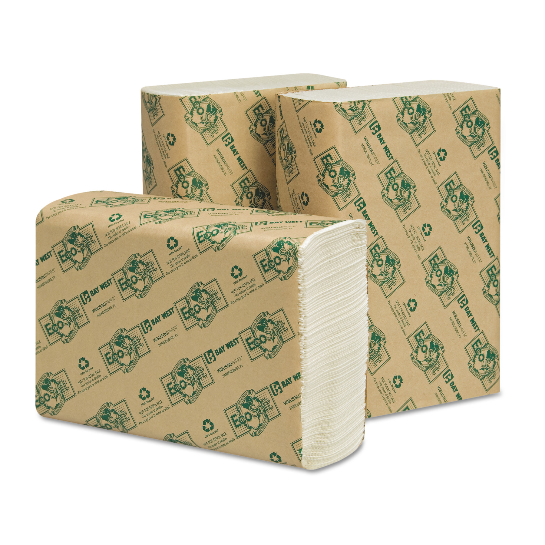 Wausau Paper Eco-Soft Multi-Fold Paper Towels, 250 count, (Pack of 16)