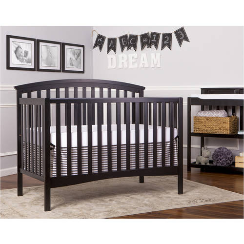 Dream On Me Eden 5-in-1 Convertible Crib, Black