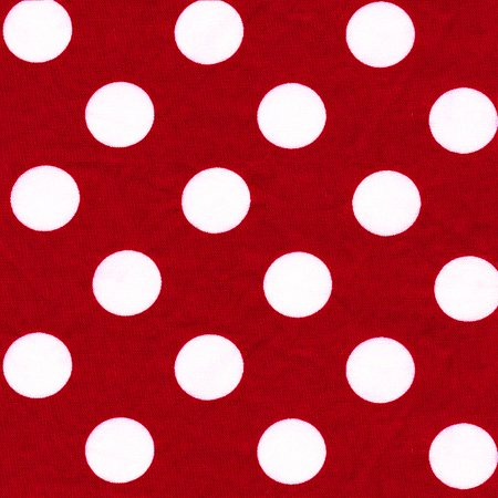 SHASON TEXTILE (3 Yards cut) 100% COTTON PRINT QUILTING FABRIC, POPPY / WHITE BIG DOTS.