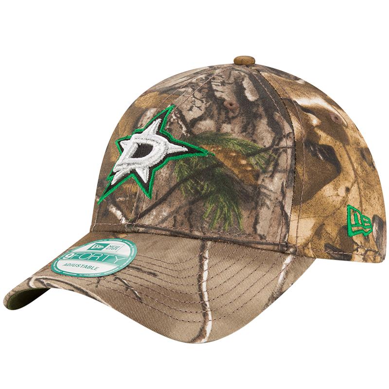 Dallas Stars New Era The League 9FORTY Adjustable Hat - Realtree- Camo - OSFA