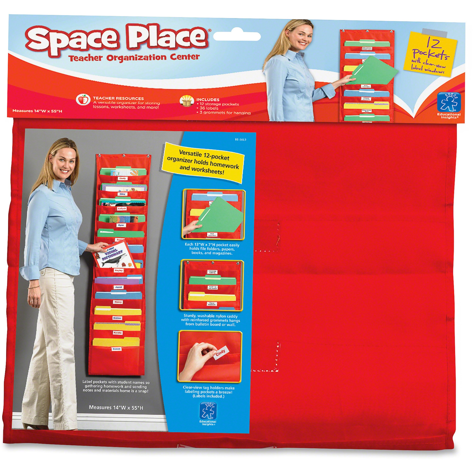 Educational Insights, EII1613, The Space Place Pocket Chart, 1 Each, Multi