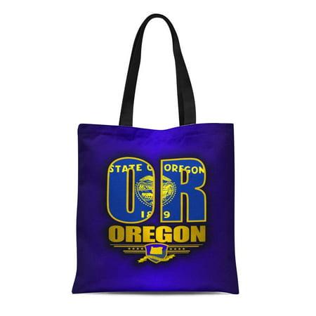 KDAGR Canvas Tote Bag Oregonian Oregon Portland Eugene Salem Gresham Hillsboro Beaverton Bend Reusable Handbag Shoulder Grocery Shopping (Hillsboro Stores)