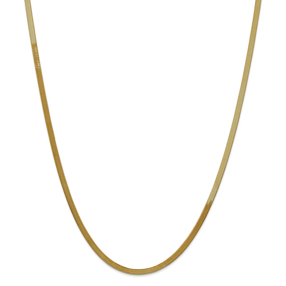 14k Yellow Gold 24in 3.0mm Silky Herringbone Necklace Chain
