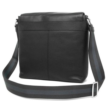677ddbfa19f0 BRAND NEW MENS COACH F28576 CHARLES SMALL BLACK LEATHER MESSENGER CROSSBODY  BAG