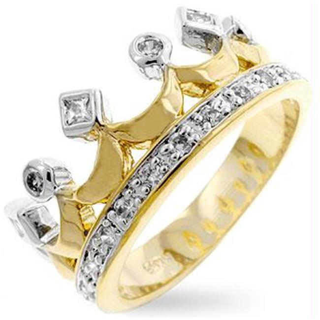 Two-Tone Crown Ring, <b>Size :</b> 06