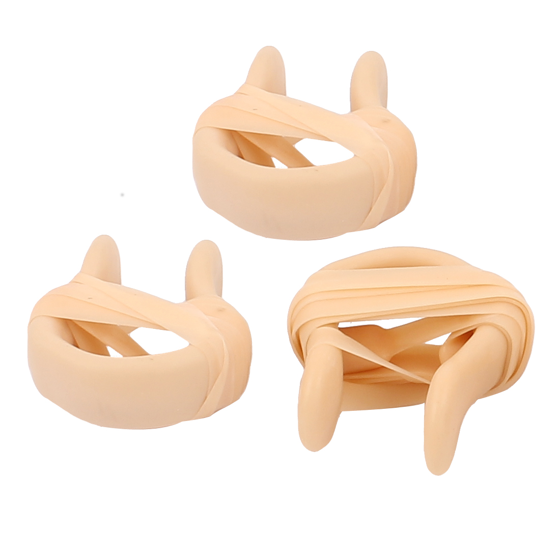 Swimming Safeguard Diving Guard Tool Plastic Nose Clips Protector Beige 3pcs - image 2 of 2
