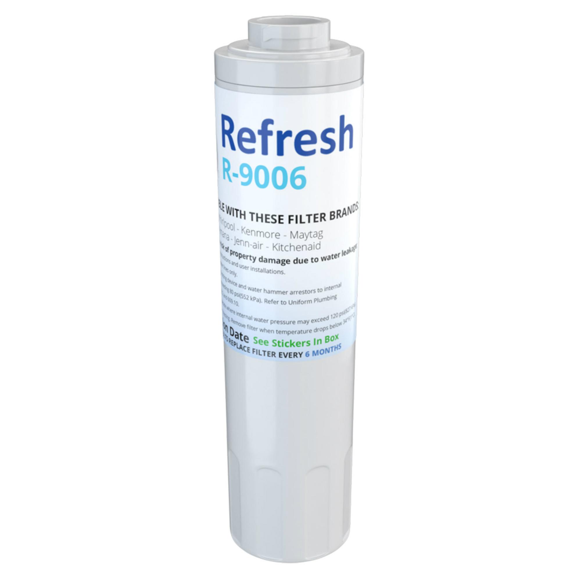 Refresh R-9006 Refrigerator Water Filter For Maytag UKF8001 & Whirlpool WRX735SDBM
