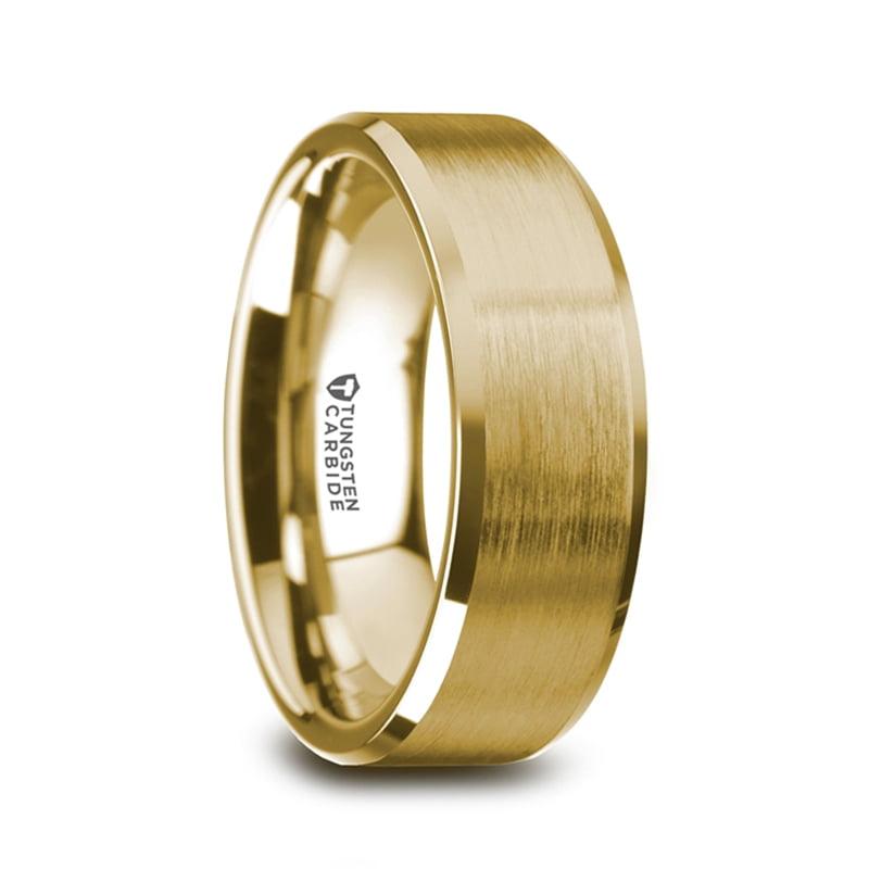 Thorsten Landon Domed Polish Finished Black Ceramic Ring 10mm Wide Wedding Band from Roy Rose Jewelry