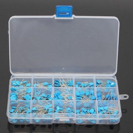 300pcs 15value 50V 0.1nF~22nF High Voltage Ceramic Capacitors Assortment Assorted Kit + Box - image 2 de 5