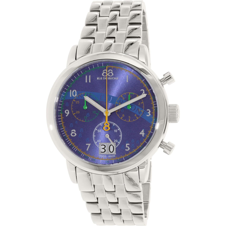 Image of 88 Rue Du Rhone Men's 87WA140033 Silver Stainless-Steel Swiss Quartz Dress Watch