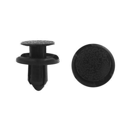 100Pcs Rivet plastique noir Trou fixation 8mm dia collier voiture - image 1 de 1