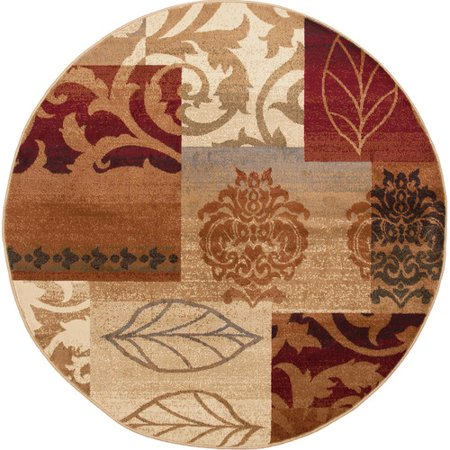 Tayse Rugs Impressions Red Multi Classic Collage Rug