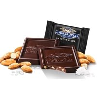 Ghirardelli Bulk Intense Dark Chocolate Sea Salt Roasted Almond Square (3 pound)
