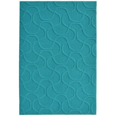 Mainstays Brentwood Collection Area Rug (Sarouk Green Traditional Rug)