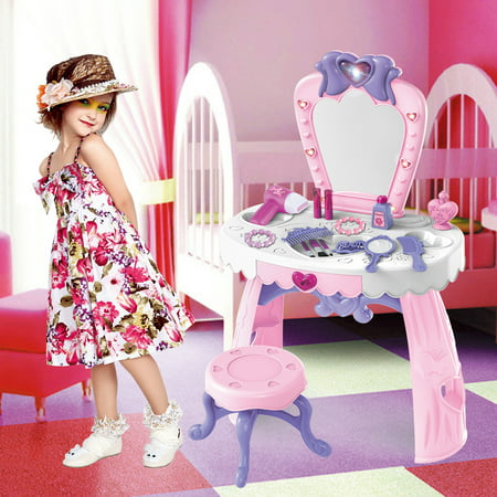 Fantasy Vanity Beauty Dresser Table With Fashion & Makeup Accessories For Girls
