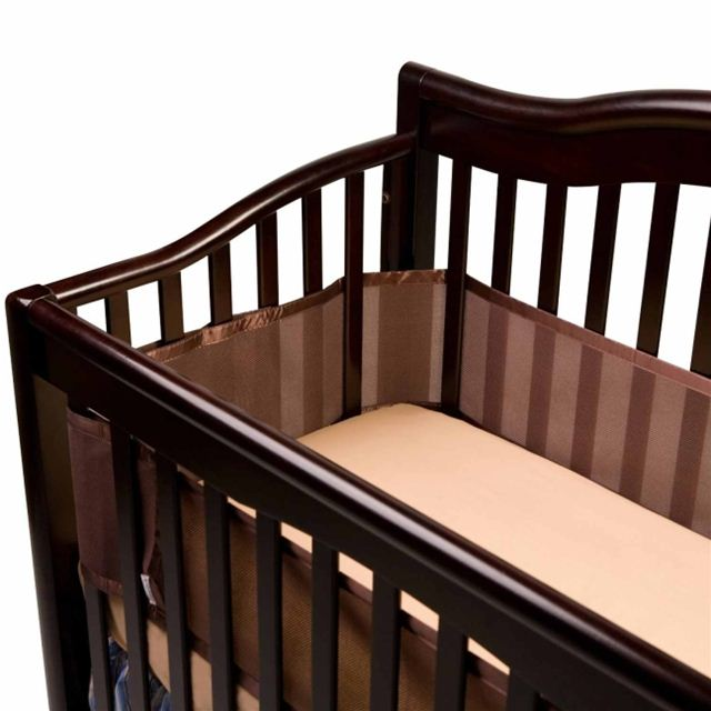 BreathableBaby Breathable Mesh Crib Liner - Brown