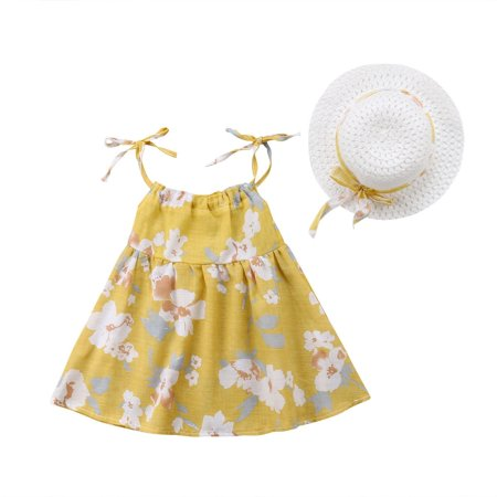 Fashion Summer Dress Newborn Infant Kids Baby Girl Party Pageant Dress Sleeveless Set - 60s Girls Fashion