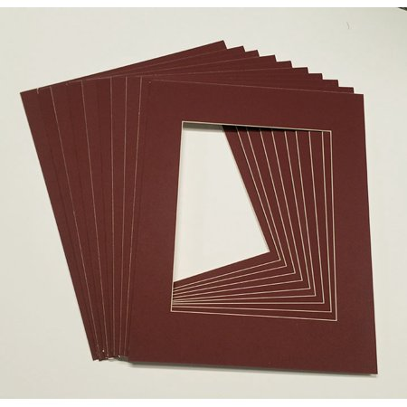 16x16 White Picture Mats with White Core for 8x8 Pictures - Fits 16x16 Frame (16x16 White Frame)
