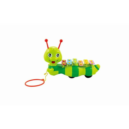 Pull Along Dragging Caterpillar,with a Xylophone Pulling Crawling Toy for Children Toddlers - Caterpillar Craft