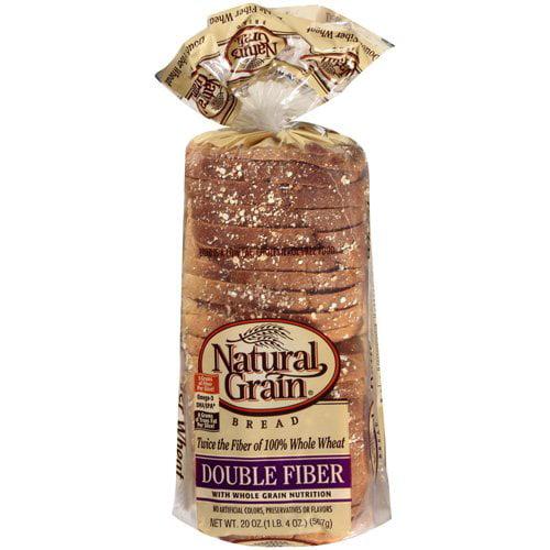 Natural Grain Double Fiber Sliced Bread, 20oz