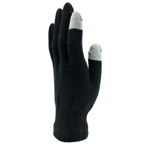 Luxury Divas Knit Black Touch Screen Texting Cell Phone Gloves