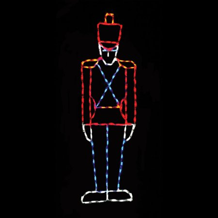 65 in. Outdoor LED Small Toy Soldier Display - 150 Bulbs
