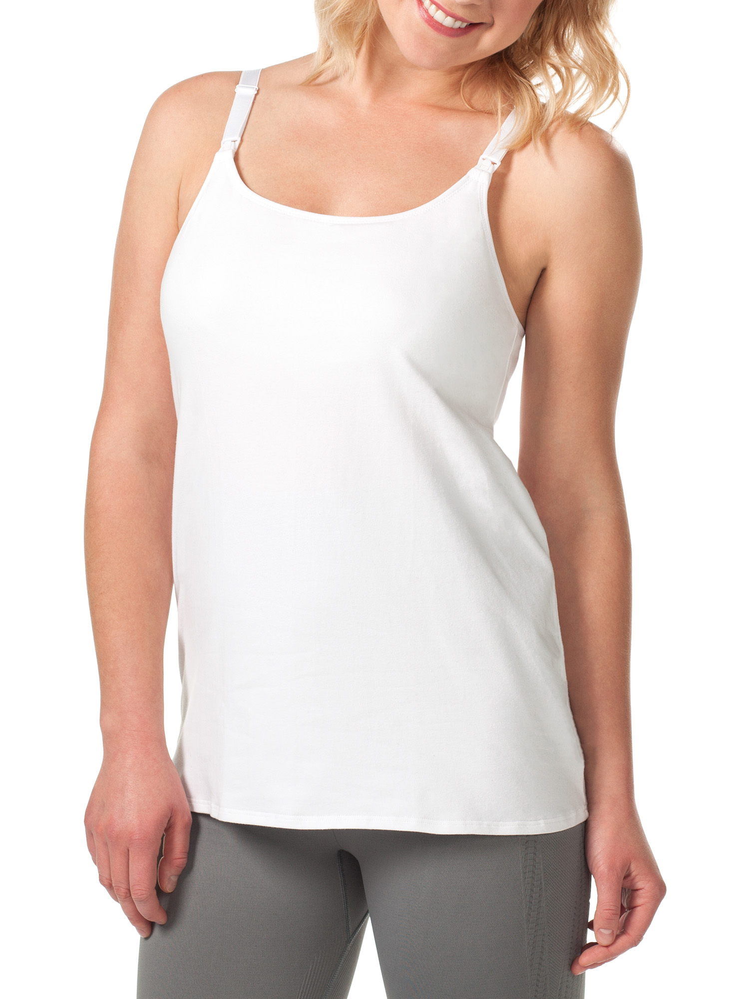 Maternity Nursing Cami with Built-in Shelf Bra - Available in Plus Size, Style L319