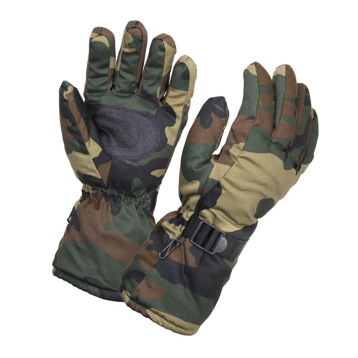Rothco Extra-Long Insulated Gloves, Woodland Camo by Insulated Gloves