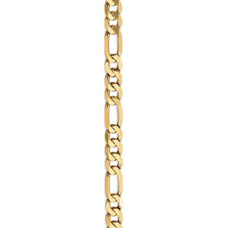 14k Yellow Gold 7.5mm Flat Figaro Chain - image 4 of 5