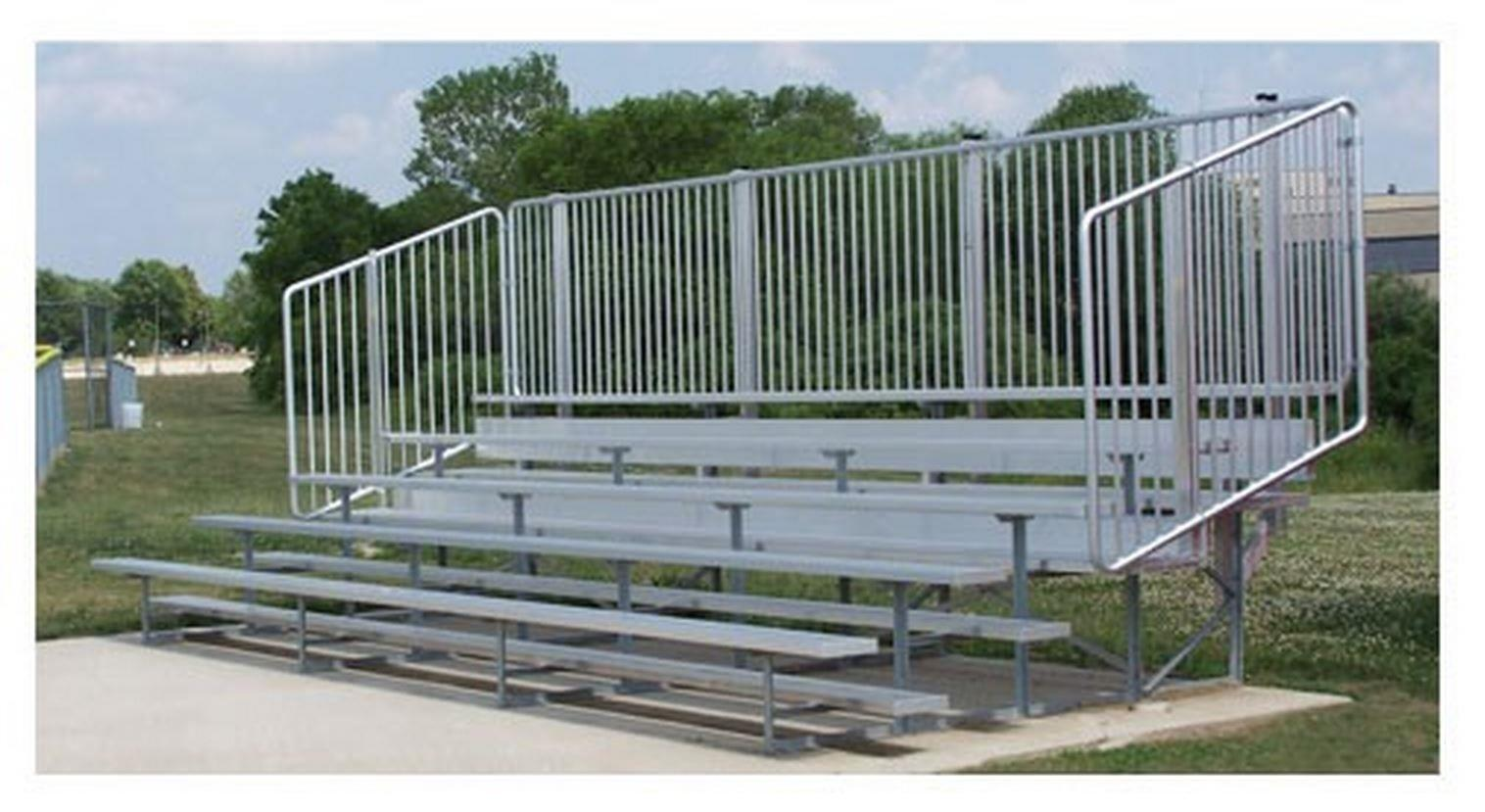 Standard Bleachers with Vertical Picket Railing-Size:15',Style:5 Row by Ssg Bsn