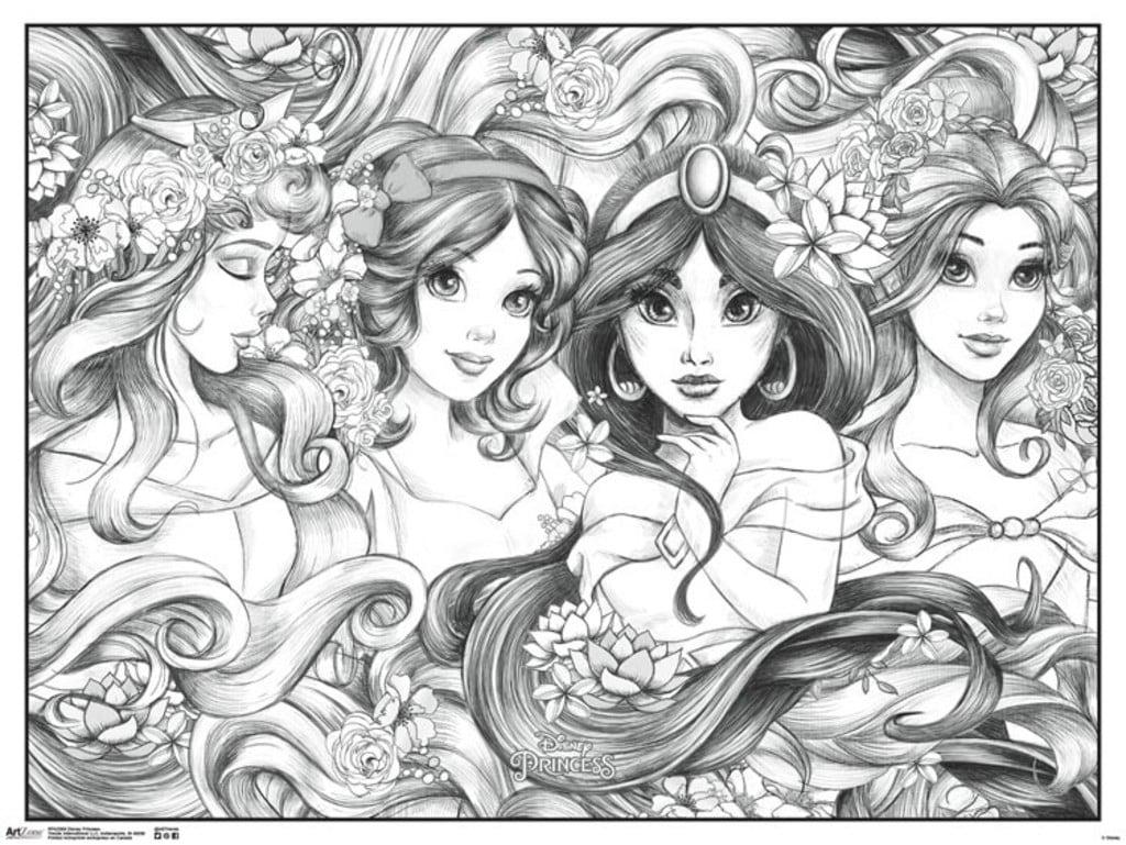 - Disney Princesses Movie Coloring Poster 24x18 - Walmart.com - Walmart.com