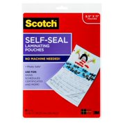 """Scotch Self-Seal Laminating Pouches, 10 Count, 8.5"""" x 11"""", 3 Mil Thick"""