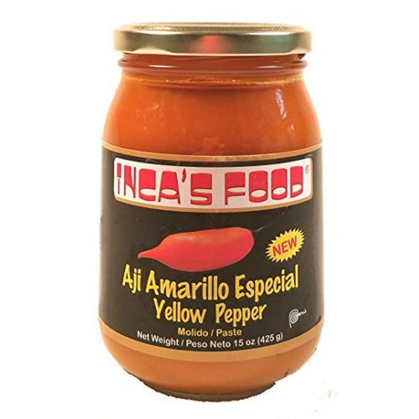 Aji Amarillo Paste Especial - 15 Oz - Deseeded Yellow Pepper Paste From Peru