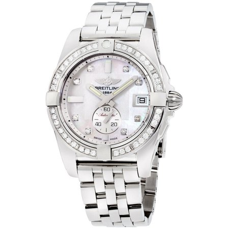 Breitling Mother Of Pearl Dial Stainless Steel Ladies Watch A3733053/A717/376A