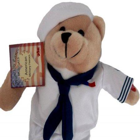 Navy Anchors Away (Plush Bear Chantilly Lane 11 Inch Singing Military Hero Navy Anchors)