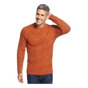 Tasso Elba Mens Wool-Blend Textured Pullover Sweater rustneps XL