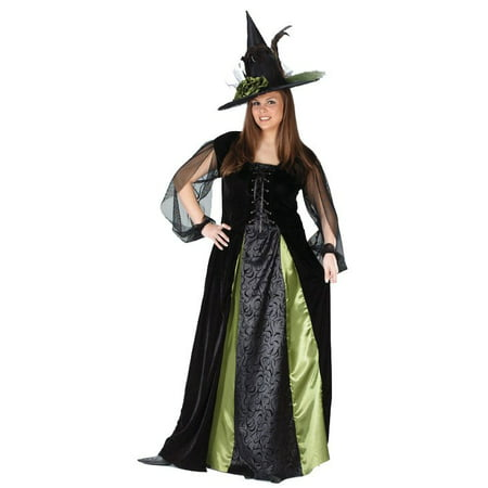 Halloween Costume Witch (Goth Maiden Witch Plus Size Adult Halloween)