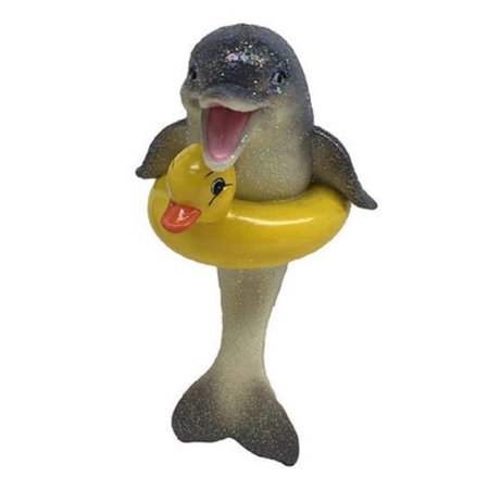 December Diamonds Duckie Dolphin with Duck Floaty Christmas Ornament (Rubber Duck Hood Ornament)