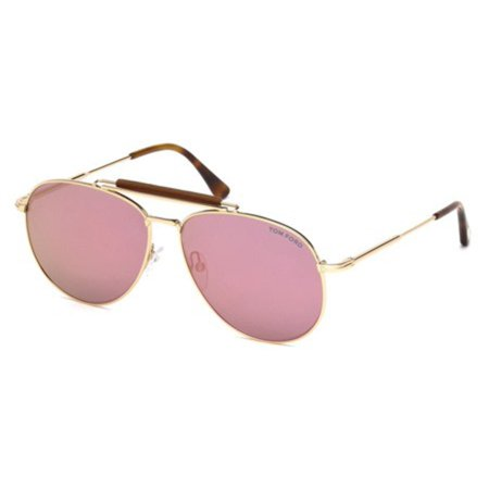 a88b9c5c73149 Tom Ford - Tom Ford Sean TF536 28Z Gold Rose Mirrored Sunglasses 60mm -  Walmart.com
